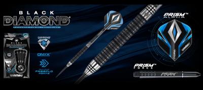 Winmau Black Diamond Fusion Onyx Coating 90/% Tungsten Steel Tip Darts